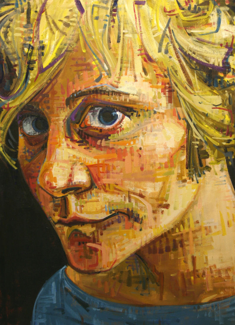 self-portrait painting by Gwenn Seemel