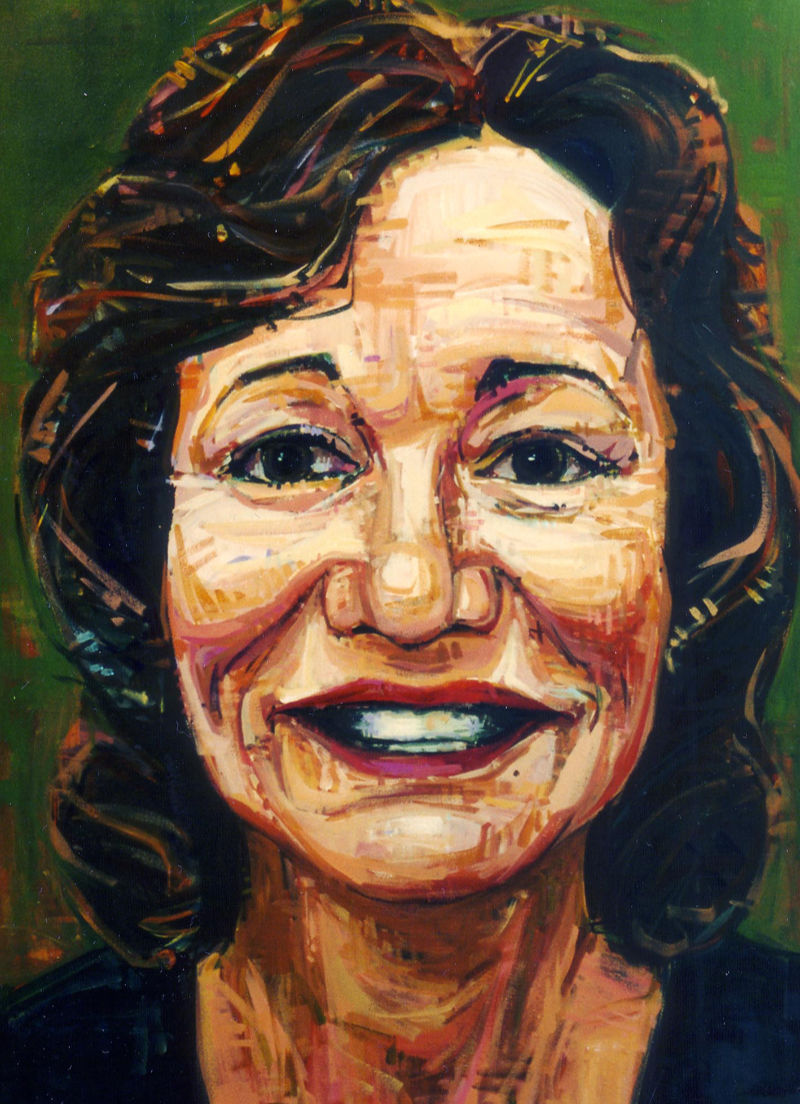 painted portrait of a Linda Yoshida