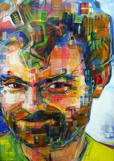 Justin Oswald portrait painting artwork