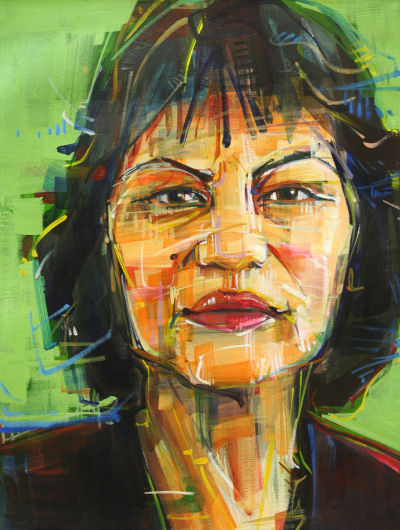 portrait painting in acrylic