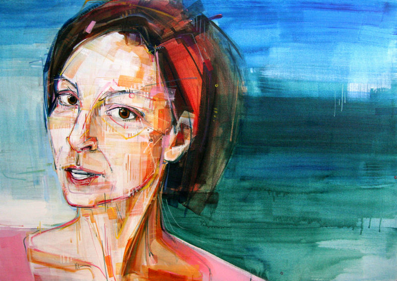 painted portrait of a pediatric oncology nurse