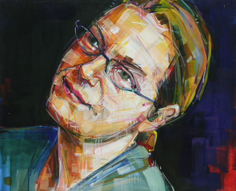 painted portrait of a lovely person