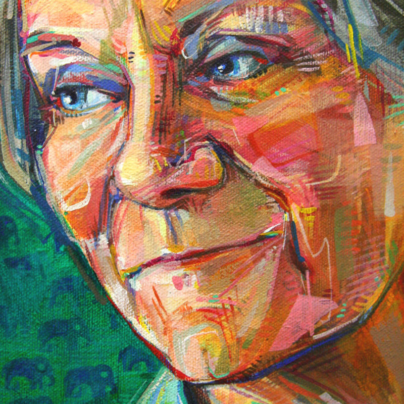 Gwenn Seemel painterly portrait