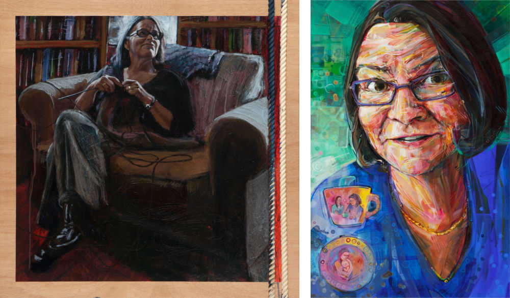 paintings by Becca Bernstein and Gwenn Seemel