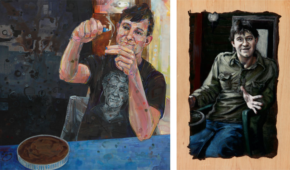 painted portraits by two artists