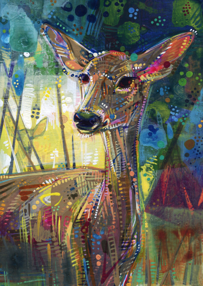 deer painting by wildlife artist Gwenn Seemel