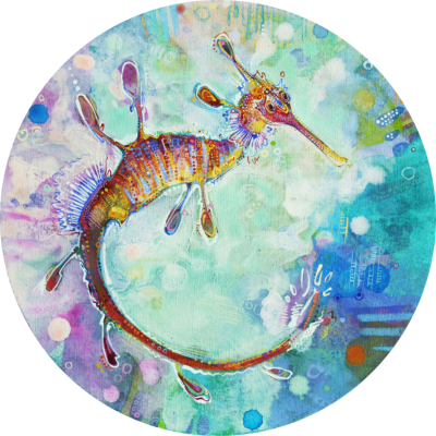 sea dragon painting