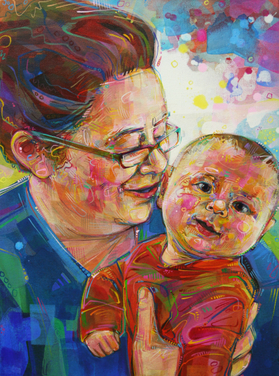 mother and baby fine art portrait commission