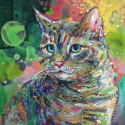 cat painting by pet portraitist Gwenn Seemel