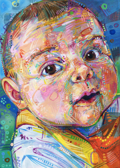 portrait of a baby, fine art commission