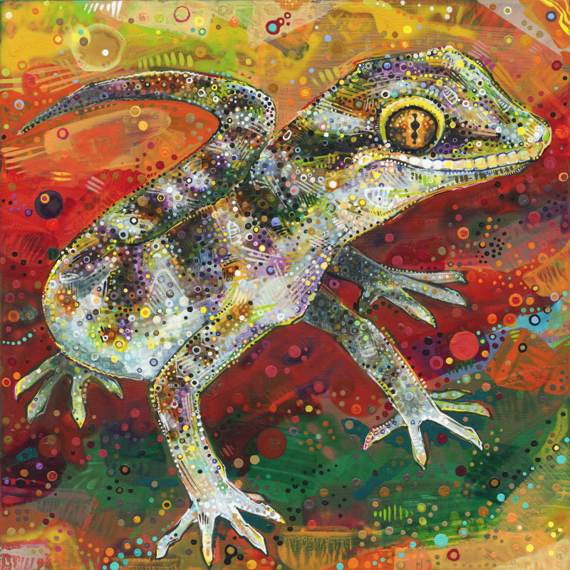 painting of gecko