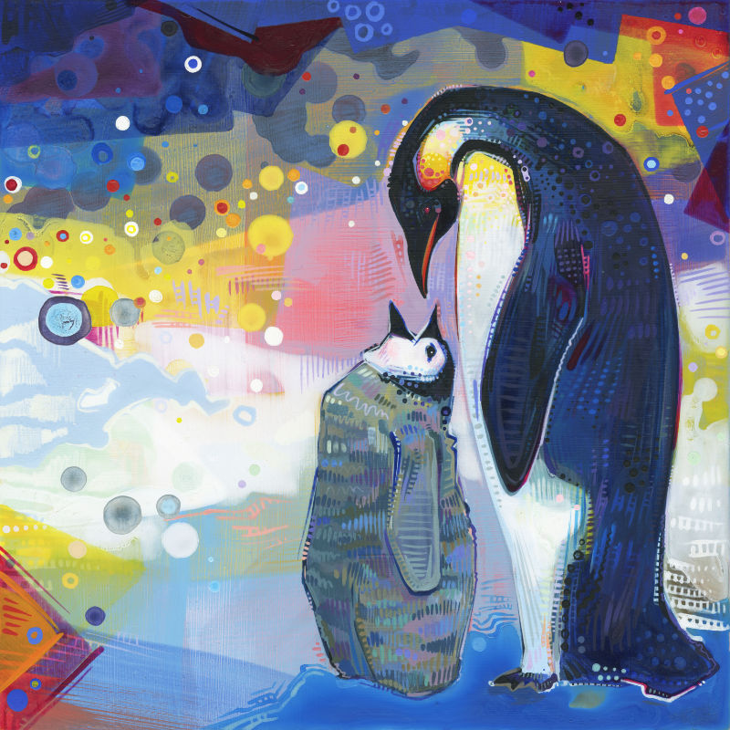 painting of an emperor penguin