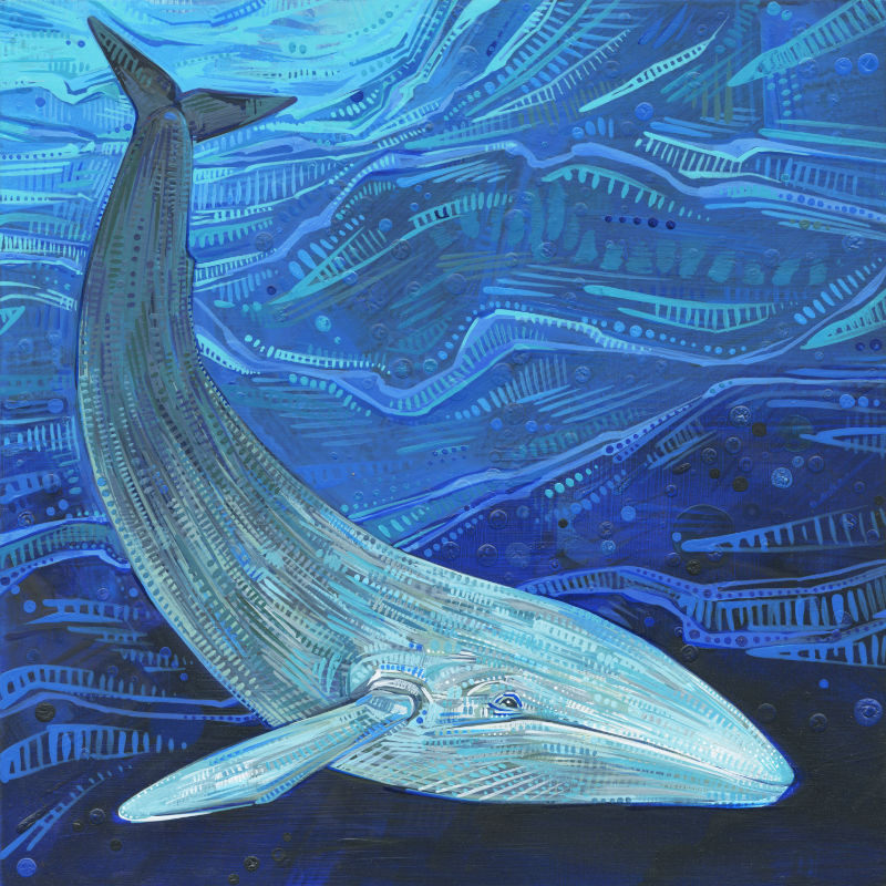 painting of a blue whale