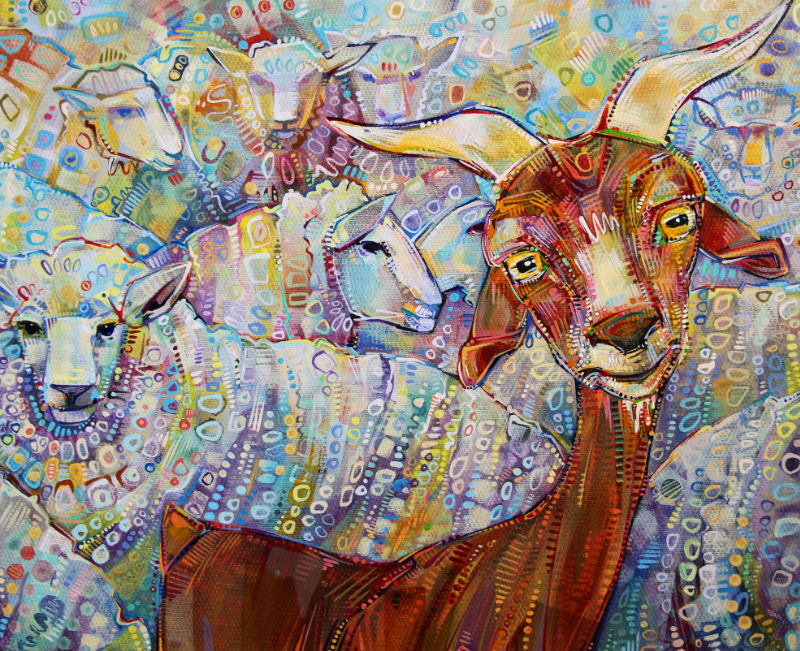 goat and sheep artwork