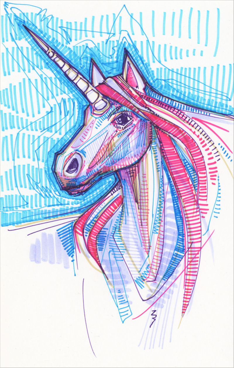 drawing of a unicorn