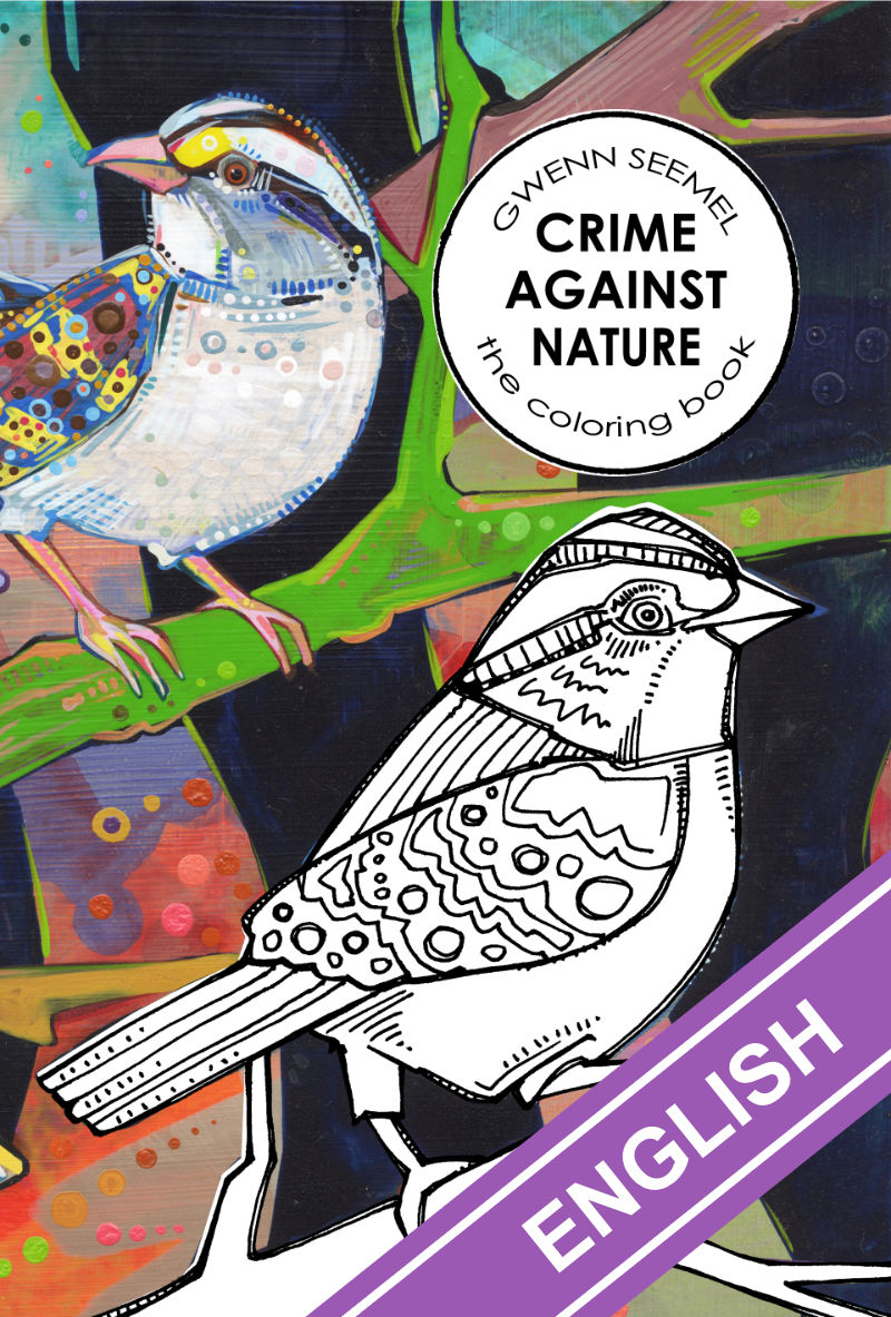 coloring book about the true diversity of natural behaviors, Crime Against Nature by Gwenn Seemel