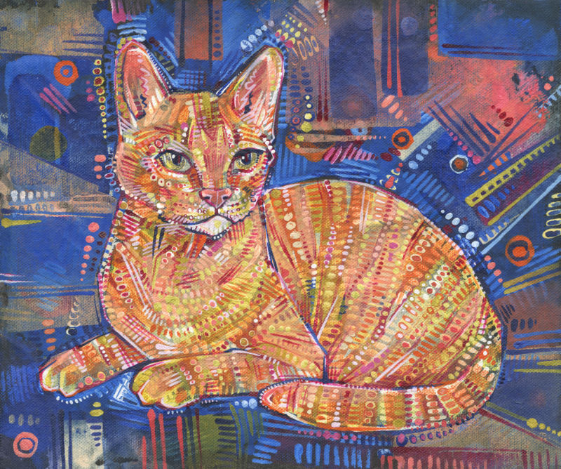 ginger cat painting