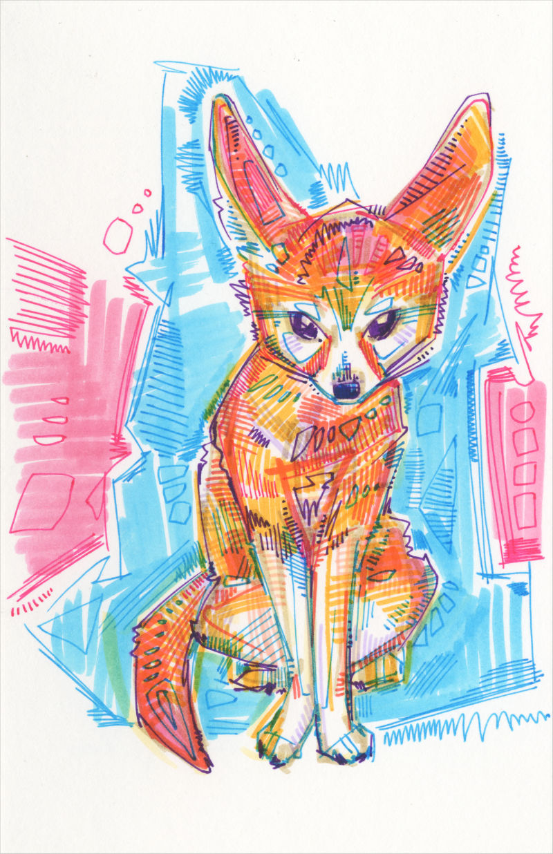 Fennec fox marker art