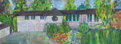 house portrait painting by Jersey artist Gwenn Seemel