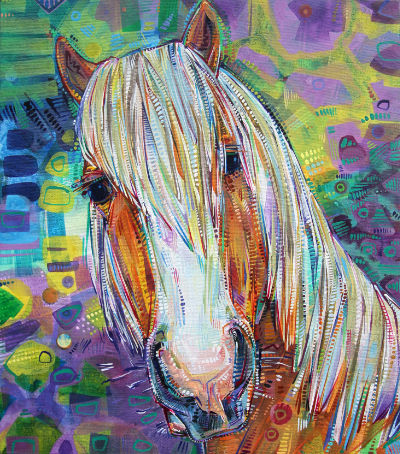 horse portrait painted by American artist Gwenn Seemel