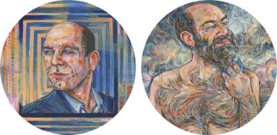 deux portraits de David Vanadia