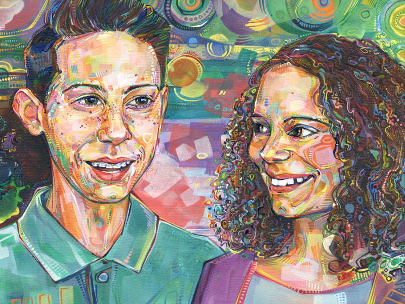 sibling portrait painting