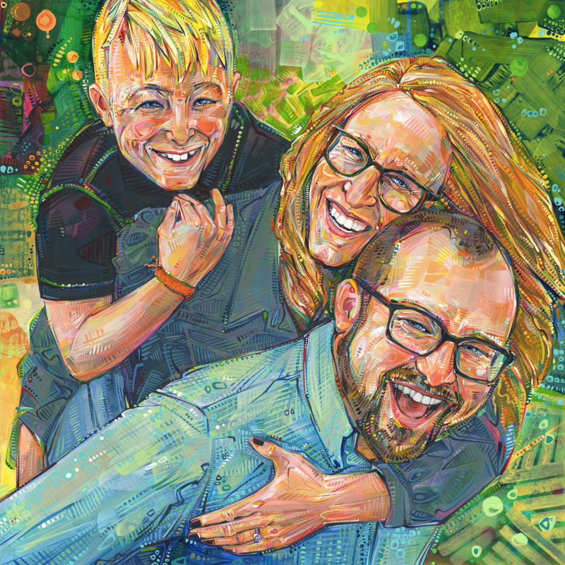 painted portrait of a family