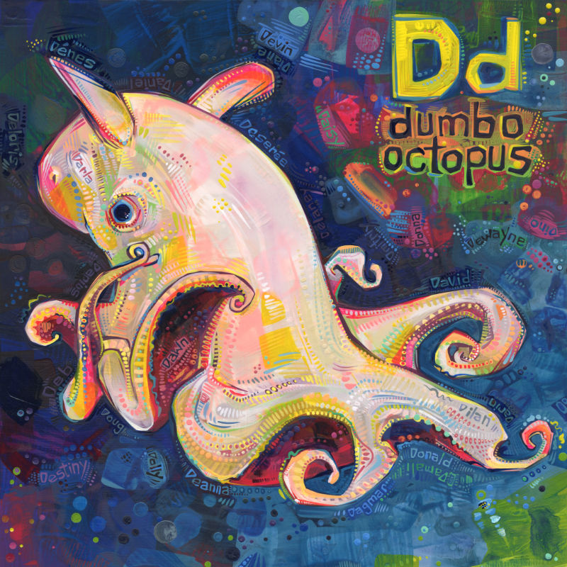 dumbo octopus art by Gwenn Seemel