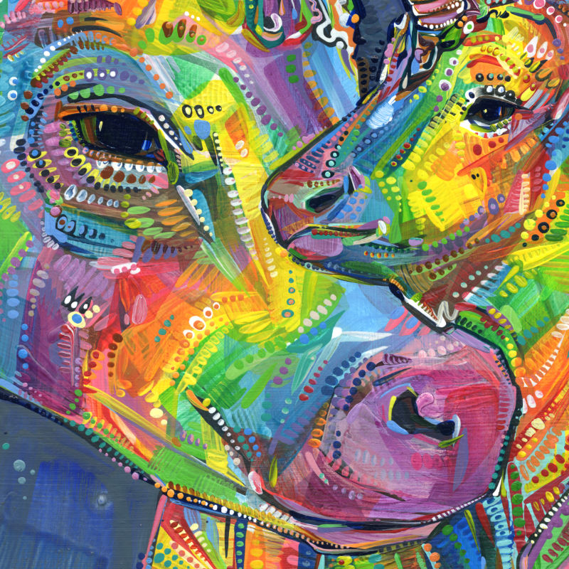 rainbow unicow artwork by Gwenn Seemel