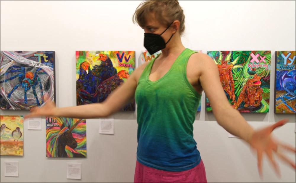 Gwenn Seemel's art IRL at the Princeton Public Library