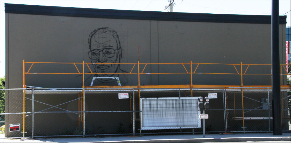 mural of Working Kirk Reeves of Portland, Oregon