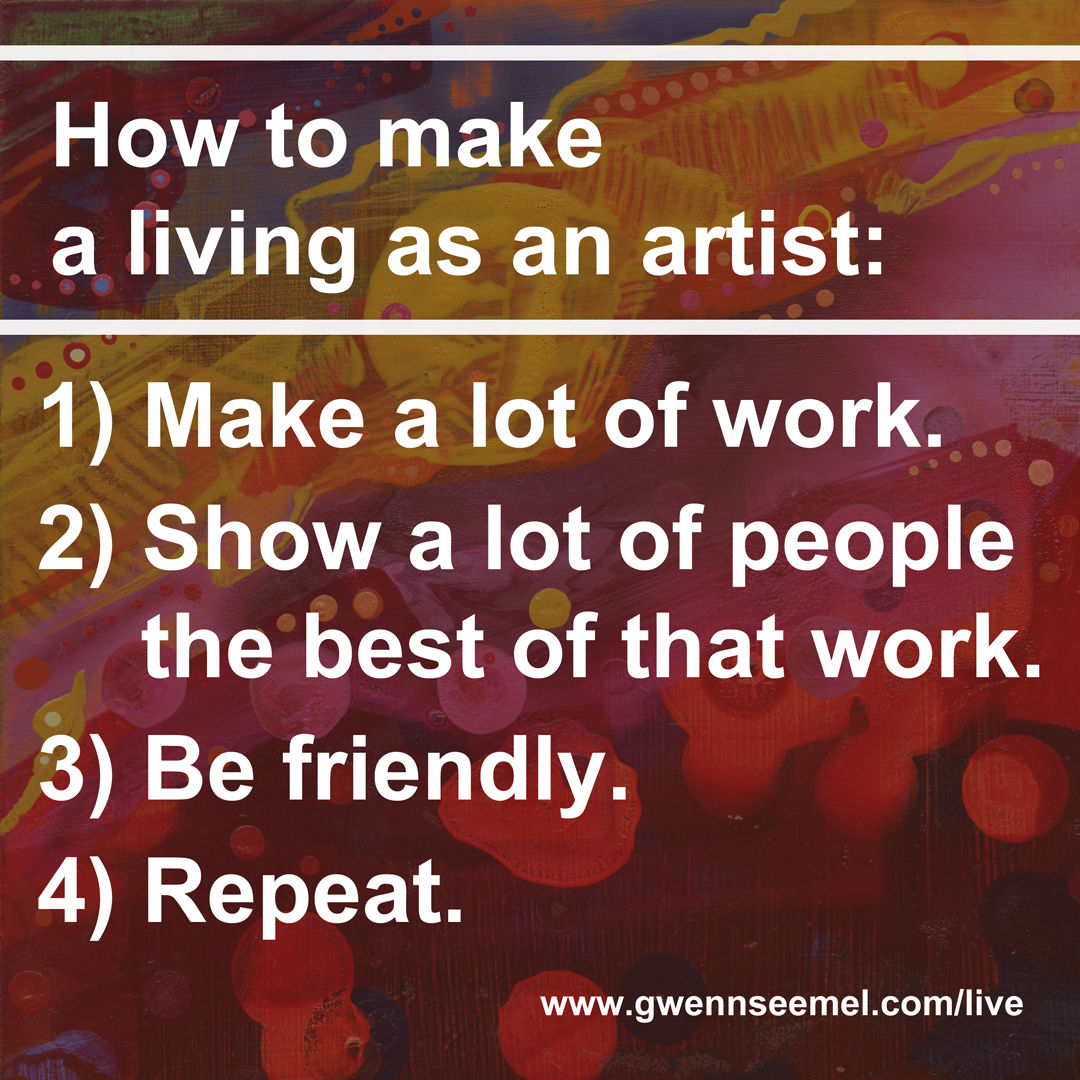 how to make a living as an artist, meme