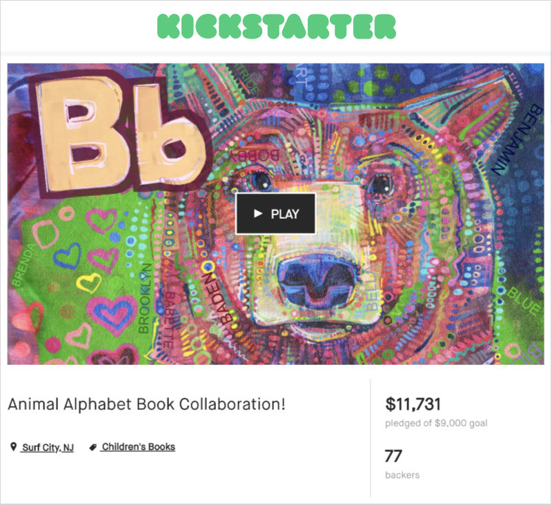 Gwenn Seemel's Kickstarter for an animal ABC book