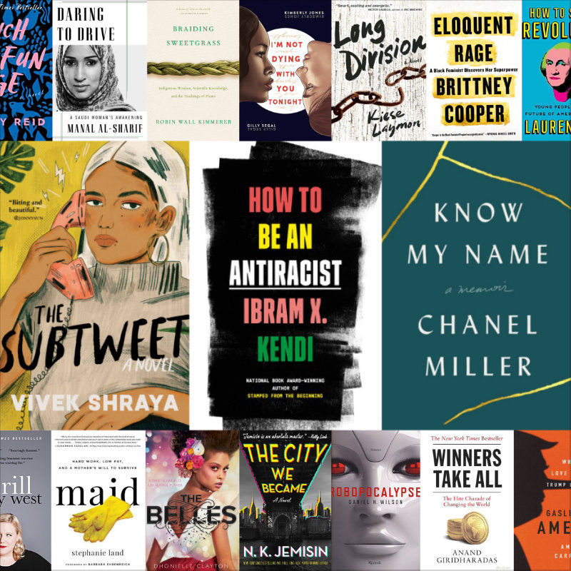 The Subtweet, How To Be an Antiracist, Know My Name, and other excellent books